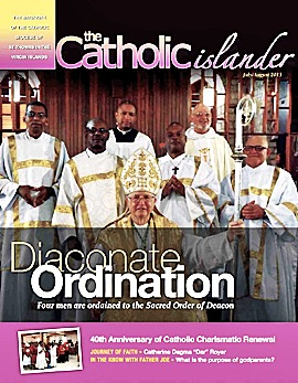 July, August 2013 Catholic Islander Cover